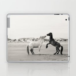 Wild Horses 4 - Black and White Laptop & iPad Skin