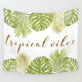 Tropical Vibes - Palms Wall Tapestry