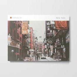 Pantone: New York Metal Print