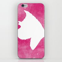 schnauzer iPhone & iPod Skins featuring Schnauzer Love by Little Ruby Studio