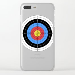 Archery and Gun Range Target Practice  Graphic Clear iPhone Case