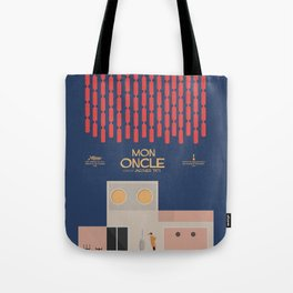 Mon Oncle - Jacques Tati Movie Poster, classic French movie, old film, Cinéma français, fun, humor Tote Bag