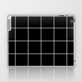 white grid on black background - Laptop & iPad Skin