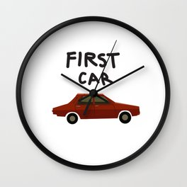 First car Wall Clock