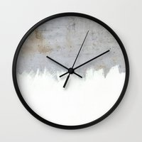 concrete Wall Clocks featuring Painting on Raw Concrete by cafelab