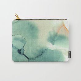 Abstract watercolor green 01 Carry-All Pouch