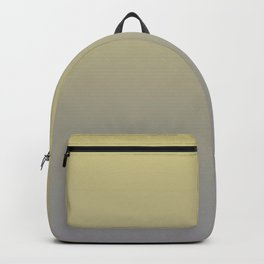 Yellow-Green and Grey Gradient Blend Pantone 2021 Color of the Year Ultimate Gray 17-5104 Backpack
