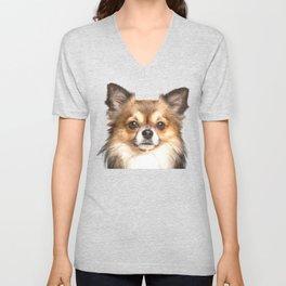 Chihuahua Portrait Unisex V-Neck