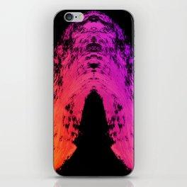 Vibrant Sunset Gradient Brushstroke on Black iPhone Skin