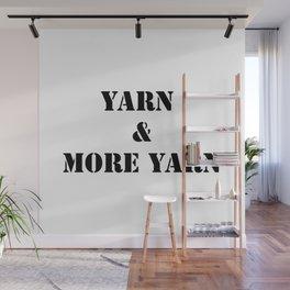 Yarn & More Yarn in Black Wall Mural