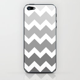 Chevron - Multi Grey iPhone Skin