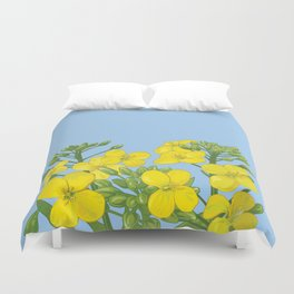 Summer flower in yellow Duvet Cover