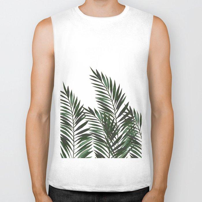 Palm Leaves Green Biker Tank