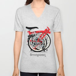 Brompton Bike Unisex V-Neck