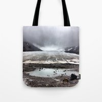 lee pace Tote Bags featuring Glacial Pace by MARLER MADE