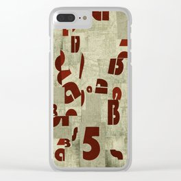 Absract Collage Clear iPhone Case