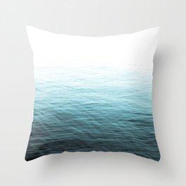 Vast Blue Ocean Throw Pillow