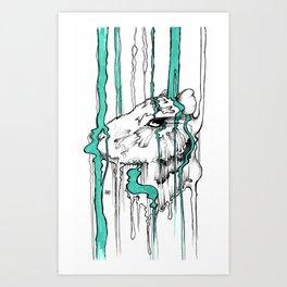Happy Capybara Art Print