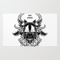 diablo Area & Throw Rugs featuring Diablo III. Witch Doctor by OneAppleInBox