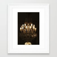 chandelier Framed Art Prints featuring Chandelier by Scotty Photography