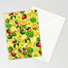 Summer Fruits Juicy Pattern  Stationery Cards