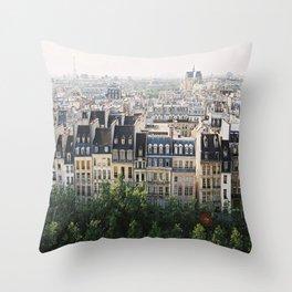 Paris landscape Throw Pillow