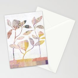 Flowers On Wood Stationery Cards