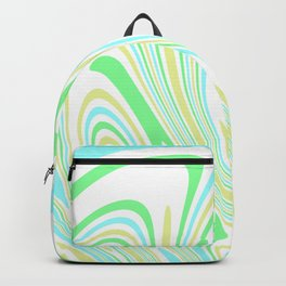Blue, Yellow, and Green Waves 2 Backpack