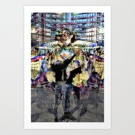 reflection ultimately becomes identity Art Print