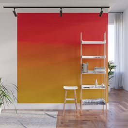Red Apple and Golden Honey Ombre Sunset Wall Mural