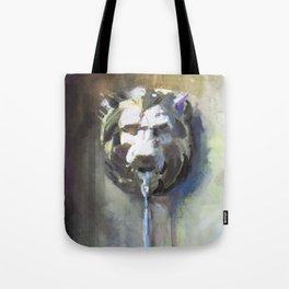 Lionhead Fountain Tote Bag