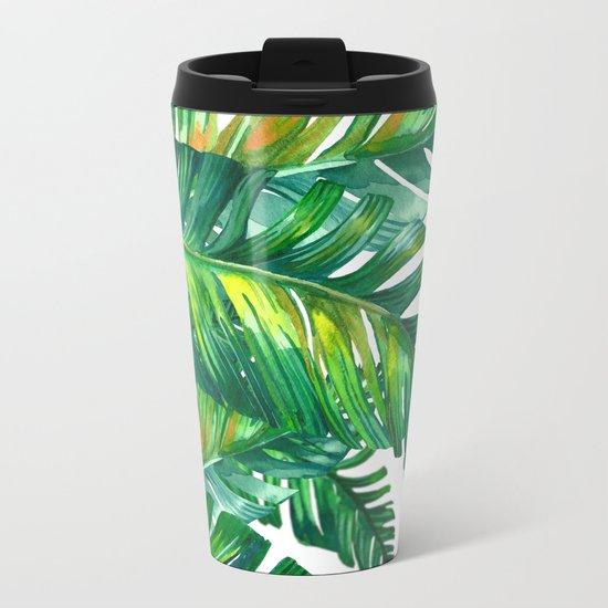 tropical green 2 Metal Travel Mug