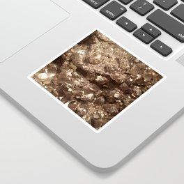 Gold Gemstone Photography   Luxury   Quartz   Crystal  Nature   Landscape Sticker
