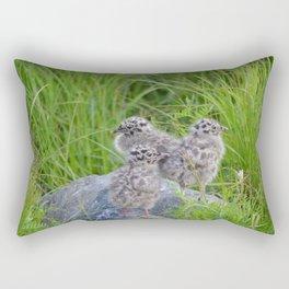 Triplets - Baby Seagulls Rectangular Pillow