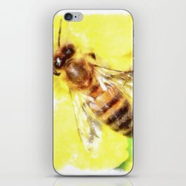 The Pollen Collector Honeybee Watercolor iPhone Skin