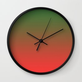 Green and Red Gradient 017 Wall Clock