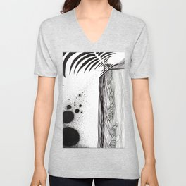 Abstract space Unisex V-Neck