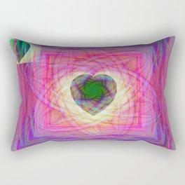 Sacred Geometry Art- Fractal Art- Abstract Art- Helix- Torus- Double Yum Rectangular Pillow