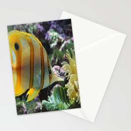 Yellow Longnose Butterfly Fish Stationery Cards