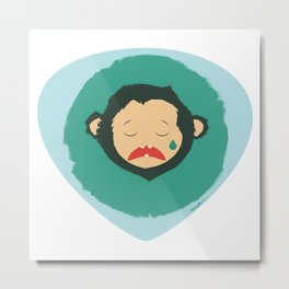 Sad Monkey-Bear Metal Print
