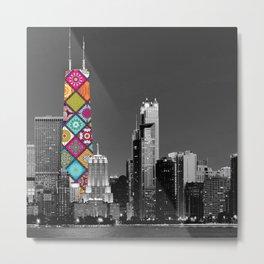 Funky Landmark - Chicago Metal Print