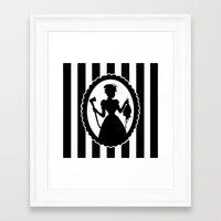 black widow Framed Art Prints featuring Widow by babydark