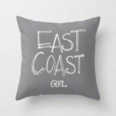 East Coast, Girl. Throw Pillow