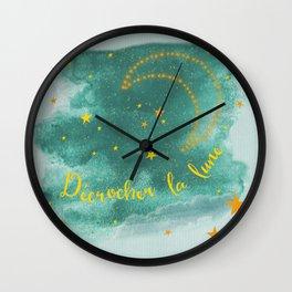Blue moonlight Wall Clock