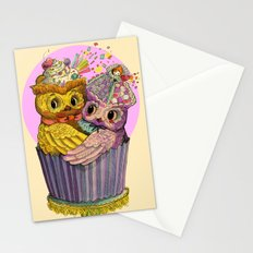 Happy Birthday Cupcake Owls Suprise Stationery Cards