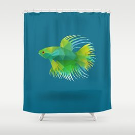 Japanese Fighting Fish. Shower Curtain