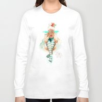 autumn Long Sleeve T-shirts featuring Autumn by Ariana Perez
