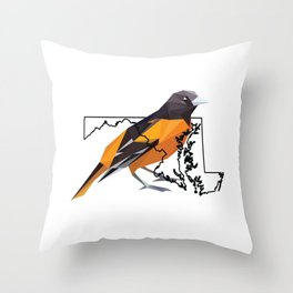 Maryland – Baltimore Oriole Throw Pillow