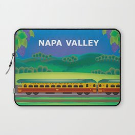 Napa Valley, California - Skyline Illustration by Loose Petals Laptop Sleeve