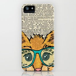 Orange Kitty Cat iPhone Case